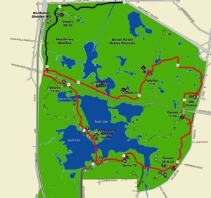 Map of Busse Woods Trail