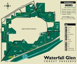 Map of Waterfall Glen path