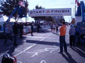 Finishing the Grand Rapids Marathon