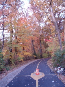 North Branch Trailhead -- that's my bike on the side.